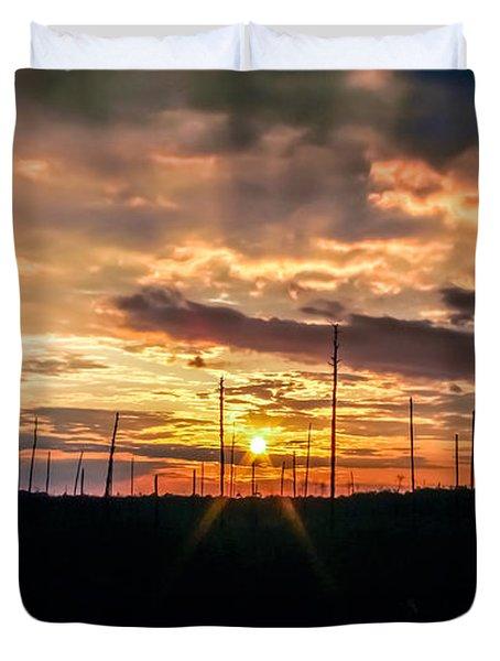 Gulf Shore Sunset Duvet Cover