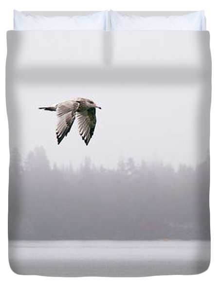 Gull In Flight Duvet Cover by Marty Saccone