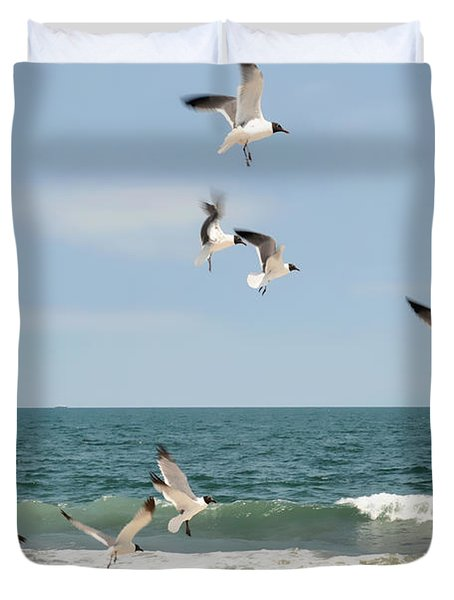 Gulls A Dance'n Duvet Cover