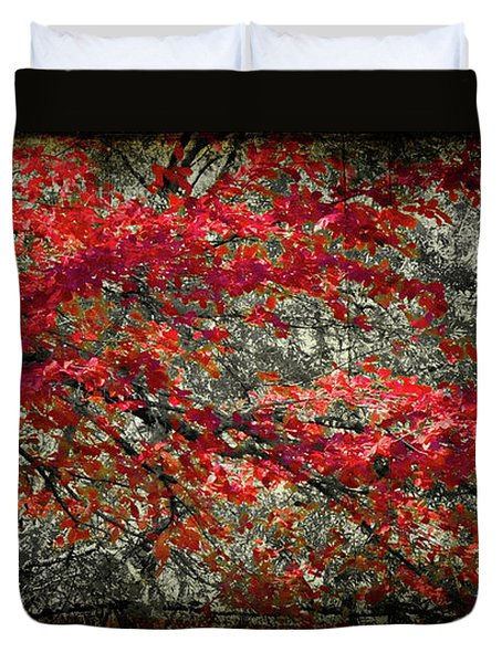 Gum Fall Duvet Cover by Lana Trussell