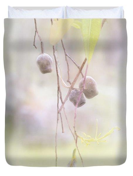 Duvet Cover featuring the photograph Gum Nuts by Elaine Teague