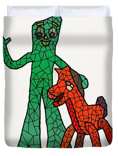 Gumby And Pokey Not For Sale Duvet Cover