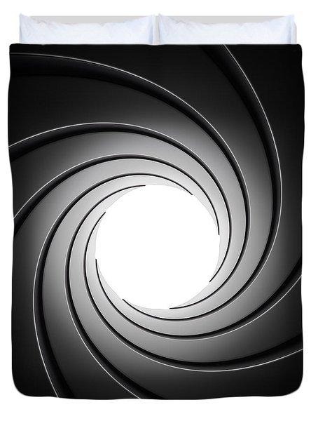 Gun Barrel From Inside Duvet Cover