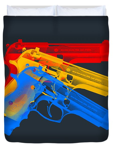 Guns Duvet Cover