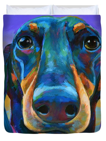 Duvet Cover featuring the painting Gus by Robert Phelps