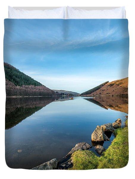 Gwydyr Forest Lake Duvet Cover by Adrian Evans