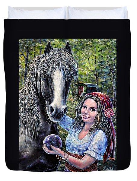 Gypsies Duvet Cover by Gail Butler
