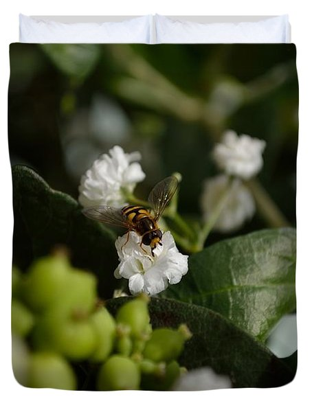 Gypsophilia Hover Fly Duvet Cover