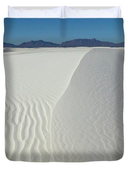 White Sands Gypsum Dunes Duvet Cover
