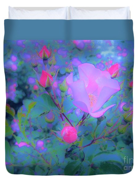 Duvet Cover featuring the photograph Gypsy Rose - Flora - Garden by Susan Carella