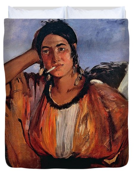 Gypsy With Cigarette Duvet Cover