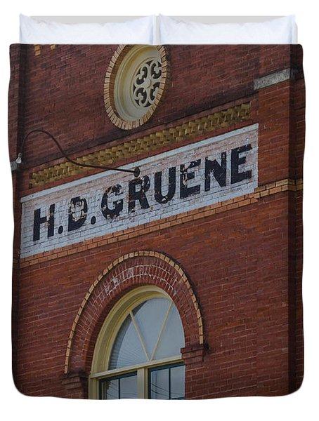 H D Gruene Duvet Cover