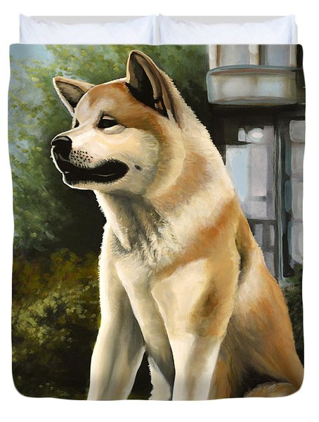 Hachi Painting Duvet Cover