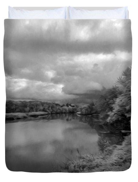 Hackensack River Duvet Cover