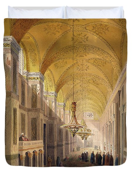 Haghia Sophia, Plate 2 The Narthex Duvet Cover by Gaspard Fossati