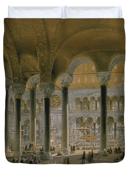 Haghia Sophia, Plate 6 The North Nave Duvet Cover by Gaspard Fossati