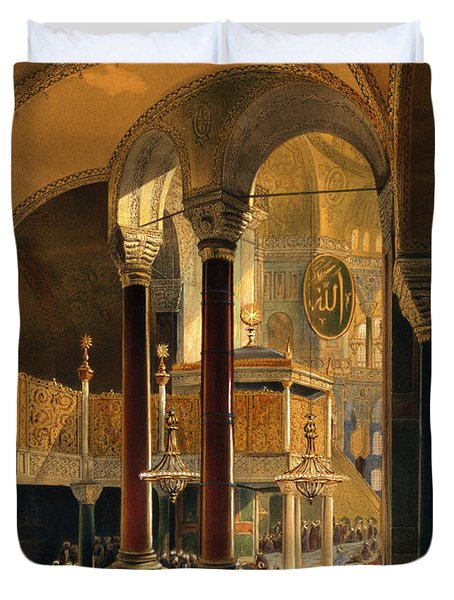 Haghia Sophia, Plate 8 The Imperial Duvet Cover by Gaspard Fossati