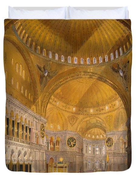 Hagia Sophia, Constantinople, 1852 Duvet Cover