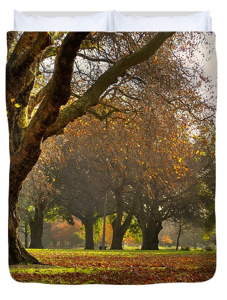 Hagley In Autumn Duvet Cover