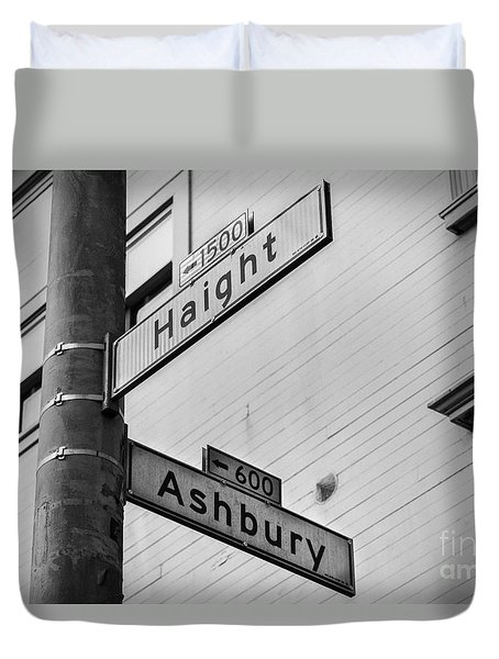 Haight And Ashbury Duvet Cover by Jerry Fornarotto