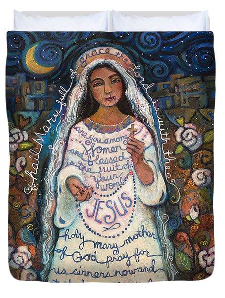 Hail Mary Duvet Cover