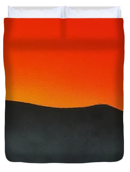 Hakarimata Sunset Duvet Cover
