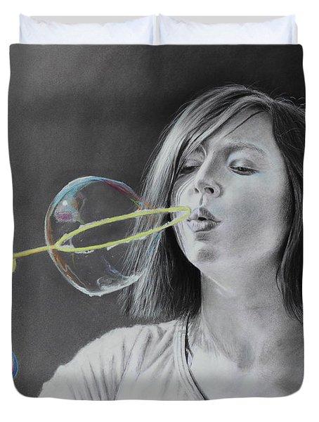 Bubble Girl Duvet Cover