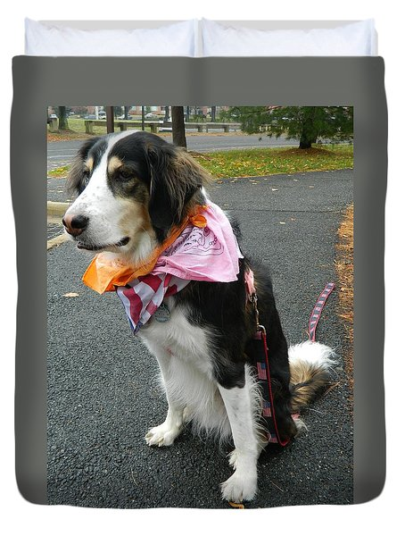 Duvet Cover featuring the photograph Haley The Wonder Dog by Emmy Marie Vickers
