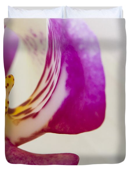 Half An Orchid Duvet Cover by Anne Gilbert