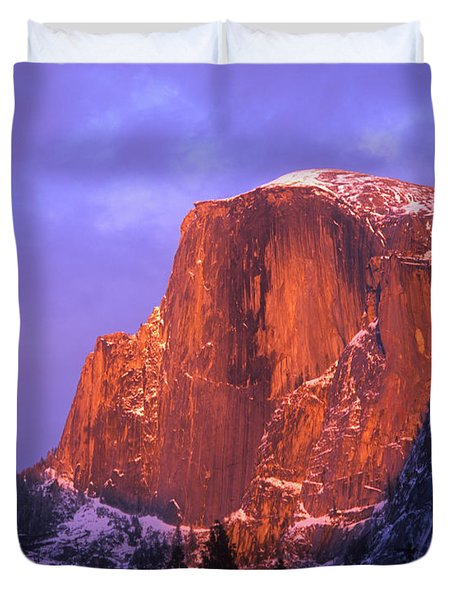 Half Dome Alpen Glow Duvet Cover by Jim And Emily Bush
