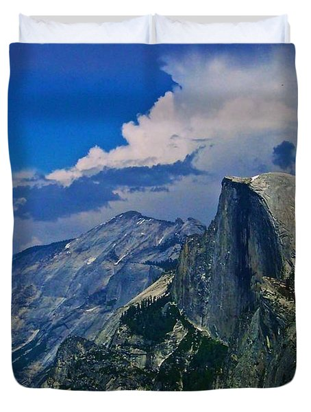 Half Dome From Glacier Point Duvet Cover by Eric Tressler
