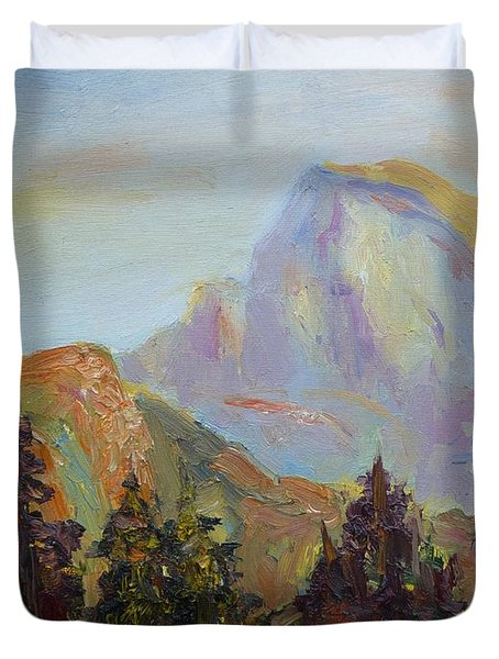 Half Dome View Duvet Cover by Carolyn Jarvis