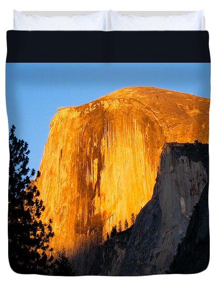 Half Dome Yosemite At Sunset Duvet Cover