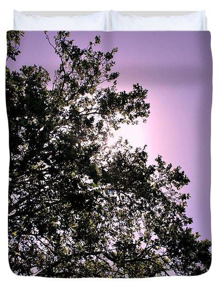 Duvet Cover featuring the photograph Half Tree by Matt Harang
