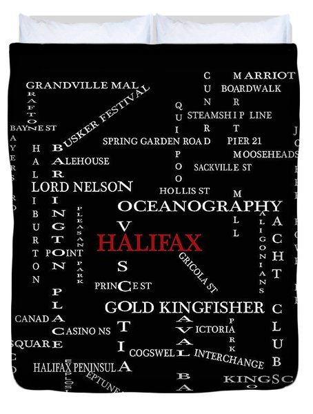 Halifax Nova Scotia Landmarks And Streets Duvet Cover by Barbara Griffin