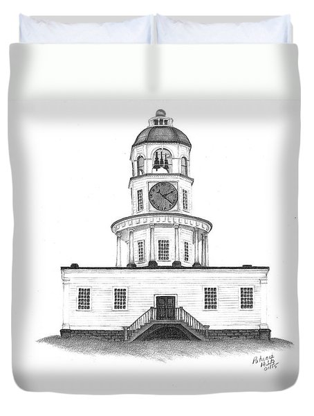 Halifax Town Clock Duvet Cover by Patricia Hiltz