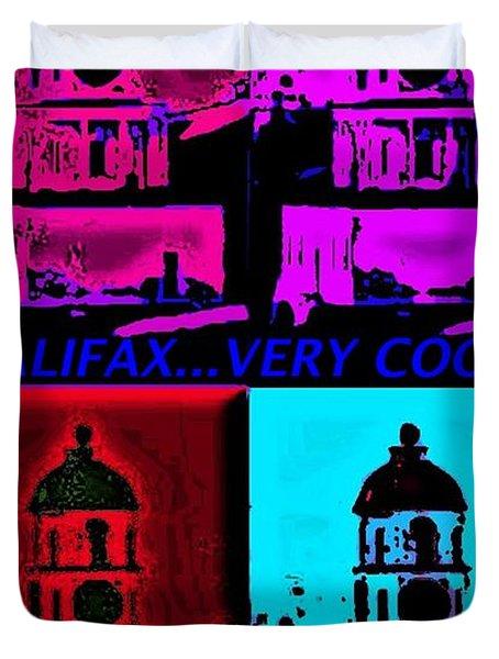 Halifax Very Cool Pop Art Duvet Cover by John Malone