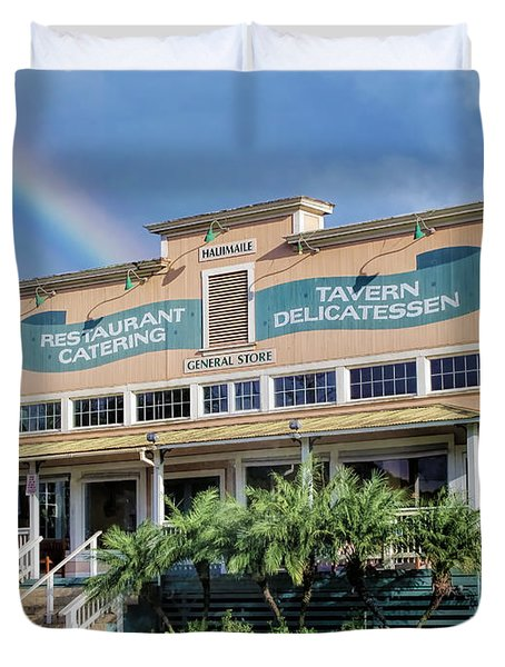 Duvet Cover featuring the photograph Haliimaile General Store 1 by Dawn Eshelman