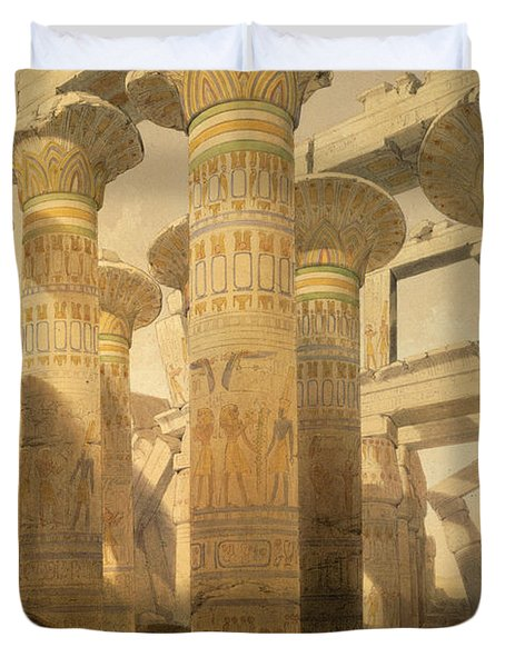 Hall Of Columns, Karnak, From Egypt Duvet Cover by David Roberts