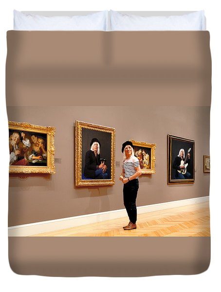 Hall Of Fame Duvet Cover by Daniel Furon