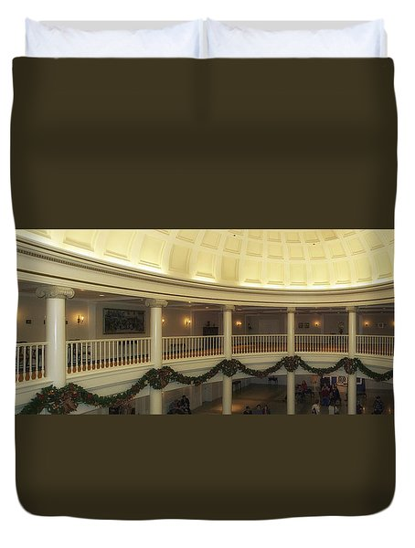 Hall Of Presidents Walt Disney World Panorama Duvet Cover by Thomas Woolworth