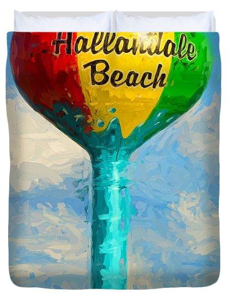 Hallandale Beach Water Tower Duvet Cover