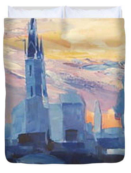 Halle Saale Germany Skyline Duvet Cover by M Bleichner