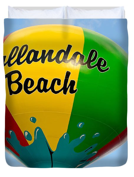 Hallendale Beach Water Tower Duvet Cover