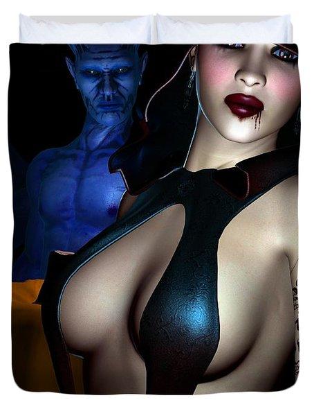 Halloween Duvet Cover by Alexander Butler