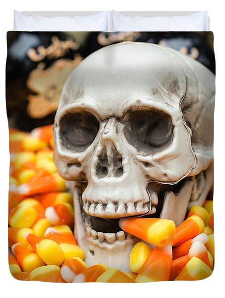 Halloween Candy Corn Duvet Cover by Edward Fielding