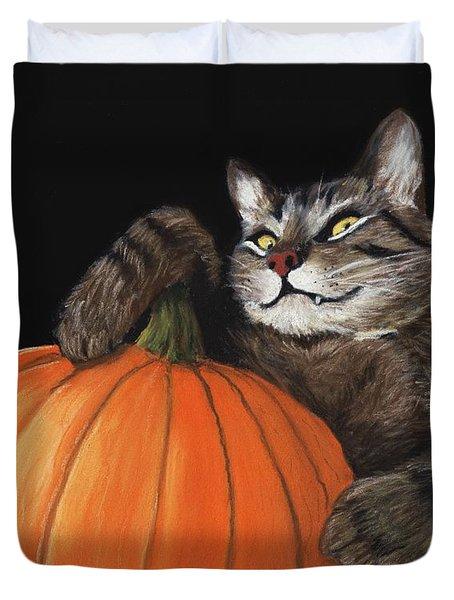 Halloween Cat Duvet Cover