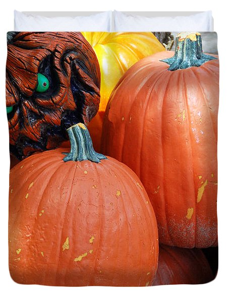 Halloween Goblin Duvet Cover by Aimee L Maher Photography and Art Visit ALMGallerydotcom