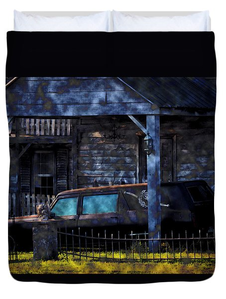 Halloween Hearse Art 1 Duvet Cover