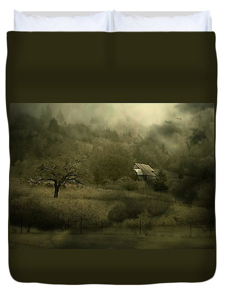 Duvet Cover featuring the photograph Halloween by Katie Wing Vigil